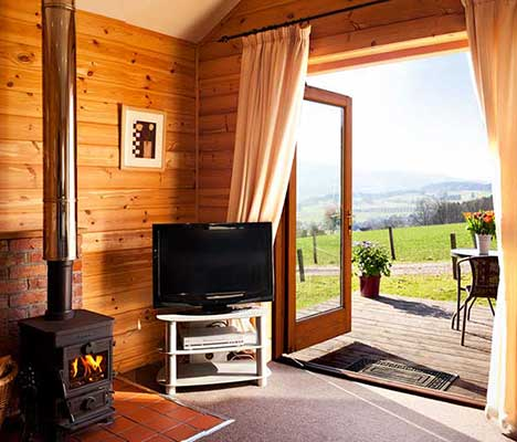 Romantic Pine lodges with hot tubs in scotland for two