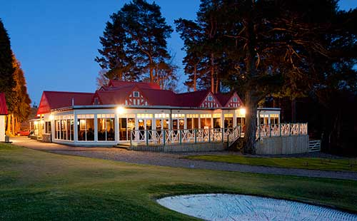 Clubhouse restaurant at pitlochry golf course