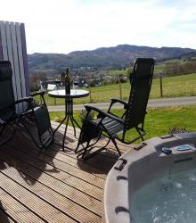 Enjoy your private hot tub on the patio